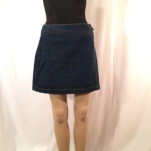 Esprit Denim Wrap Skirt with Decorative Buckle